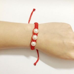 Red Lucky Rope Braided Adjustable Bracelet-H37